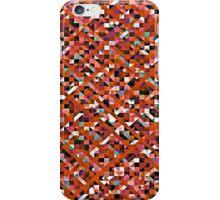 Outrageously Orange Pixelation iPhone Case/Skin