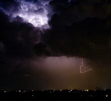 Lightning Thunderstorm Cell 08-15-10 by Bo Insogna