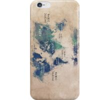 World map continents  iPhone Case/Skin