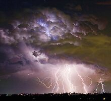 Massive Lightning Storm - Boulder County Colorado by Bo Insogna