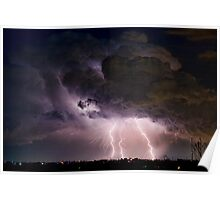 Boulder County Lightning Striking Image 29 Poster