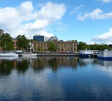 Tasmanian Museum across Constitution Dock by Trish Meyer
