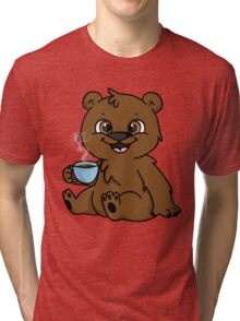 Coffee Bear  Tri-blend T-Shirt