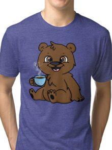 Coffee Bear  Tri-blend T-Shirt