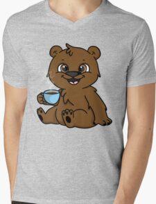 Coffee Bear  Mens V-Neck T-Shirt