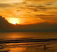 Seminyak Beach at Sunset by Michael Brewer