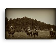 Riders of the Black Hills Canvas Print