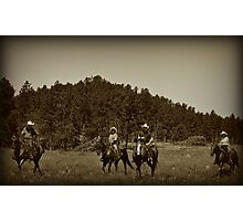 Riders of the Black Hills Photographic Print