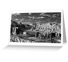 B&W  Grand Canyon and Quarry Greeting Card