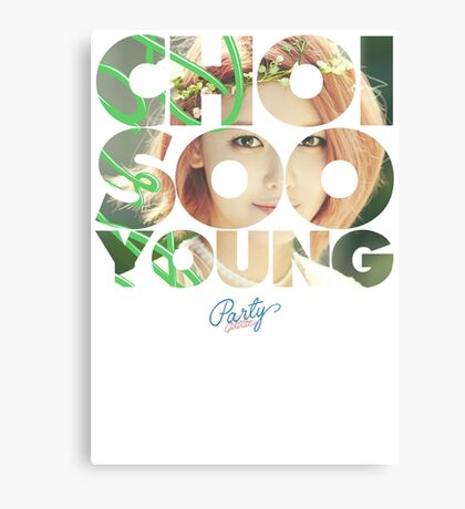 Girls' Generation (SNSD) Sooyoung 'Party' Canvas Print