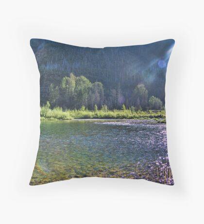 Glacier Morning Throw Pillow