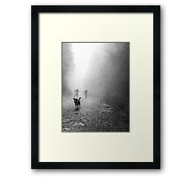 Fog Dog -Mt Fromme, winter '08 Framed Print