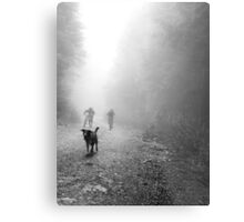 Fog Dog -Mt Fromme, winter '08 Metal Print