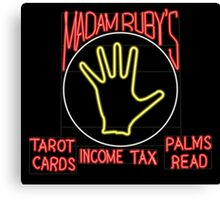 Madam Ruby's Psychical Bicycle Recovery Canvas Print