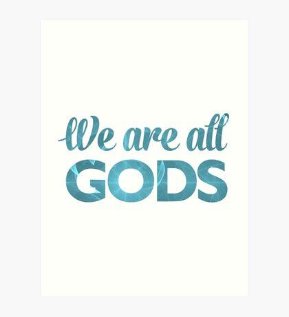 We Are All Gods | Blue Torus | Fractal Art Art Print