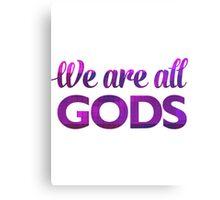 We Are All Gods   Rubix Ball   Fractal Art Canvas Print