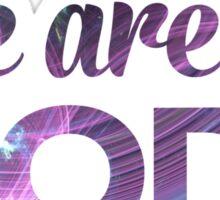 We Are All Gods | Purple Swirls | Fractal Art Sticker