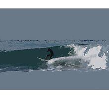 Cutout Surfer #4 Photographic Print