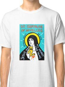 St. Gertrude of Nivelles folk art Classic T-Shirt