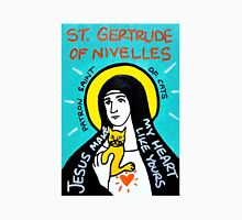 St. Gertrude of Nivelles folk art Unisex T-Shirt