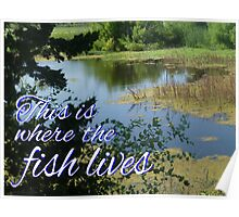 This is Where the Fish Lives Poster