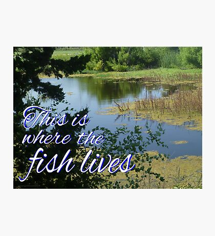 This is Where the Fish Lives Photographic Print