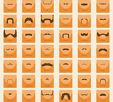 50 Classic Moustaches by FinlayMcNevin