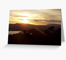 Sunrise over the Columbia River #17 Greeting Card