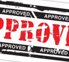 Approved stamp Sticker