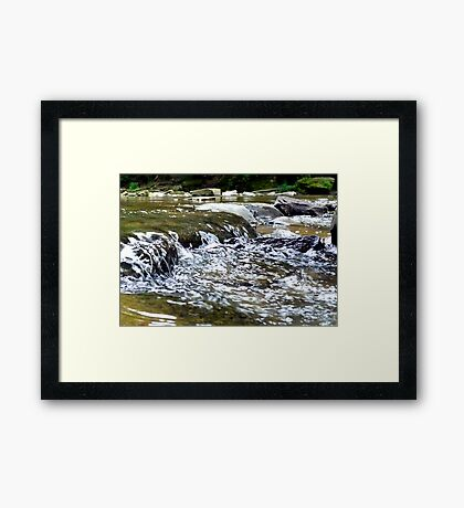 Rolling Water Framed Print