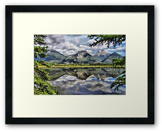 Mountain Reflection by Vickie Emms