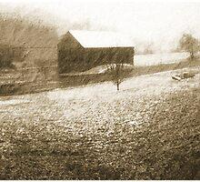 Snowy Barn by jpryce