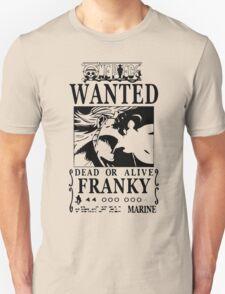 Wanted Bounty Franky - Black on White Unisex T-Shirt