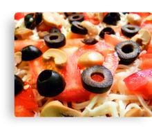 Homemade Pizza Canvas Print
