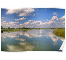 Yahara River Reflections Poster