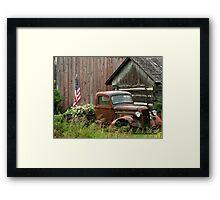 1934 Ford Pickup Displaying American Pride Framed Print