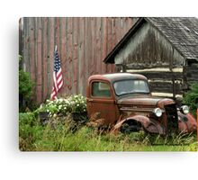1934 Ford Pickup Displaying American Pride Canvas Print