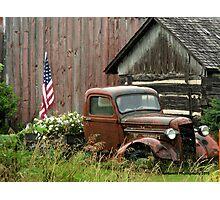 1934 Ford Pickup Displaying American Pride Photographic Print