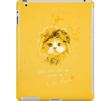 We are what we believe we are. iPad Case/Skin