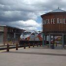 New Mexico Railrunner Departs Santa Fe Railyard, Santa Fe, New Mexico by lenspiro
