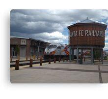 New Mexico Railrunner Departs Santa Fe Railyard, Santa Fe, New Mexico Canvas Print