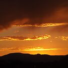 Sunset and Mountains, Santa Fe, New Mexico by lenspiro