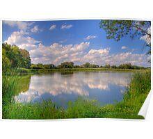 Yahara River Reflections-2 Poster