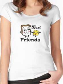 "Bread and Butter ""Best Friends""  Women's Fitted Scoop T-Shirt"