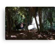Lydia Goes Camping Canvas Print