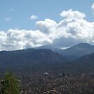 Mountains, Greenery, Clouds, Santa Fe, New Mexico by lenspiro