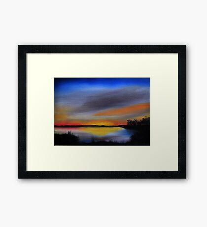 Daily Oil Painting Plein Air Maryland Wildlife Framed Print