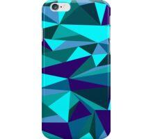 Blue triangle graphic iPhone Case/Skin