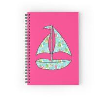 Lilly Pulitzer Inspired Sailboat You Gotta Regatta Spiral Notebook
