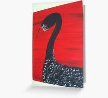 Black Swan or Blood Goose Greeting Card